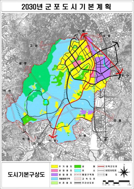 군포시, 2030년 34만명 중형급 도시 도약