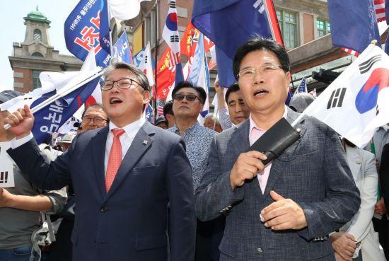 홍문종, 한국당 탈당 공식 선언…애국당 공동대표로