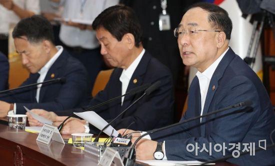 [포토]경제활력대책회의 주재하는 홍남기 부총리