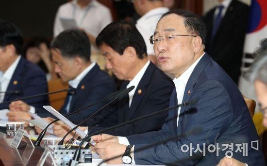 """홍남기 """"16.5조원 SOC 신속 집행…분양가 상한제, 의견조율 거쳐""""(종합)"""