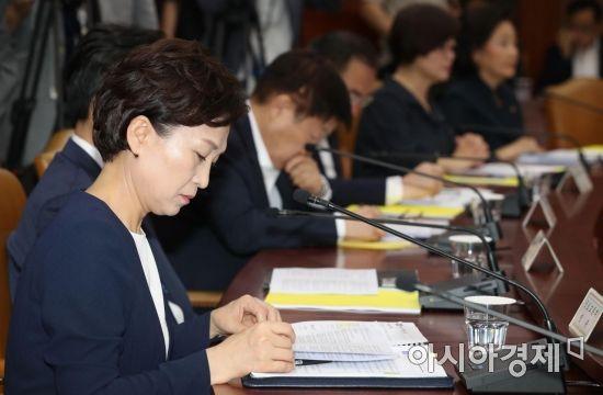 [포토]경제활력대책회의 참석한 김현미 장관