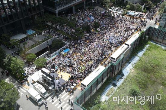 [포토]땡볕 아래 수요시위