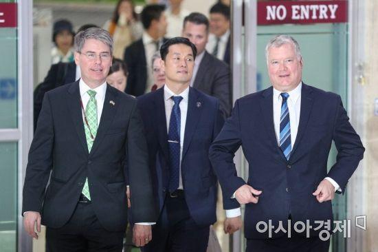 [포토]스티브 비건 미 국무부 대북특별대표 입국
