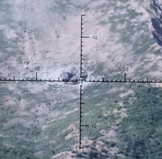 81㎜ 박격포-Ⅱ 명중 장면 (사진=방위사업청)