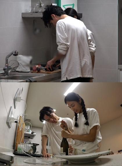 '동상이몽2' 김원중♥곽지영 사진만 보고 레시피 상상 요리