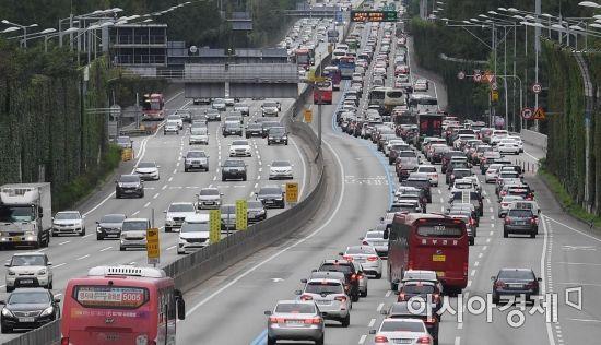 [포토] 귀성차량 몰리는 고속도로