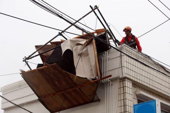 1명 중상·농경지 침수…태풍 '타파' 피해 속출