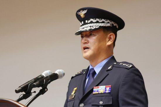 전제용 신임 군사안보지원사령관이 지난 20일 군사안보지원사령부에서 열린 취임식에서 취임사를 하고 있다. (사진=국방부)
