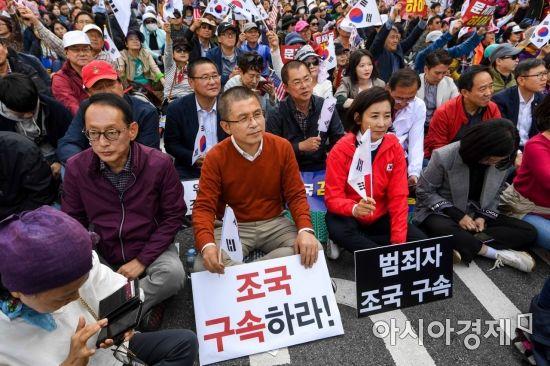 [포토]보수단체 집회 참가한 자유한국당