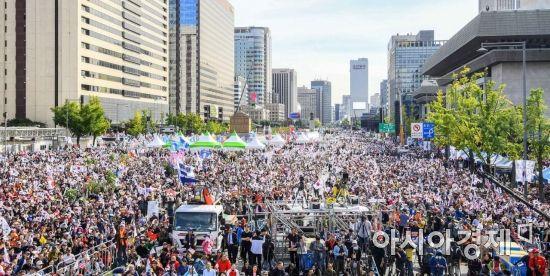 [포토]광화문 광장 가득 메운 보수단체