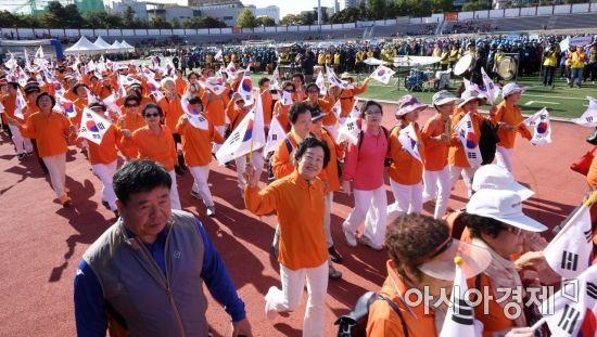 [포토] 입장하는 노인건강대축제 선수단
