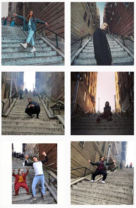 영화 '조커' 실제 촬영지, 美 뉴욕 한 거리…관광객들로 북적