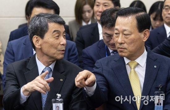 [포토] 이야기 나누는 이동걸·김도진