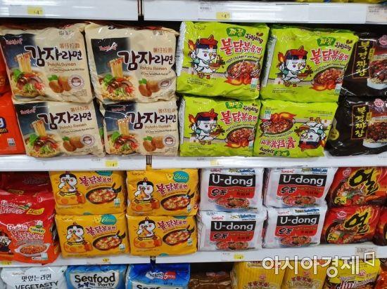 [르포]신라면·불닭부터 꼬북칩, 메로나까지…美 마트 점령한 K푸드