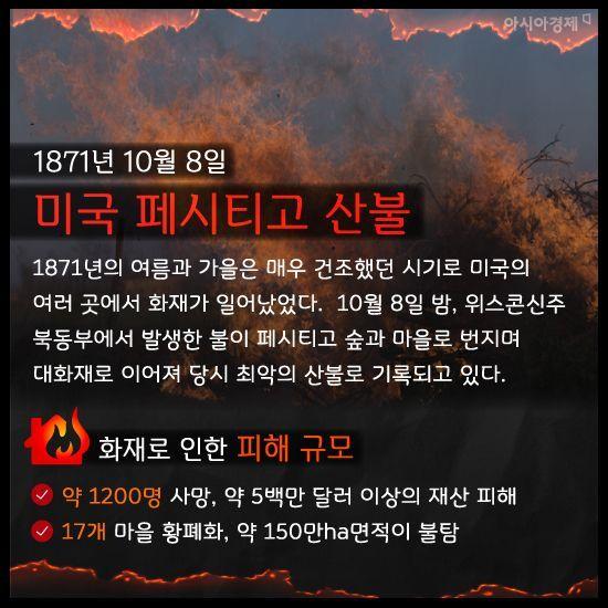 [카드뉴스]'호주 대형 산불'로 살펴본 지구를 놀라게 한 대형 화재 10건