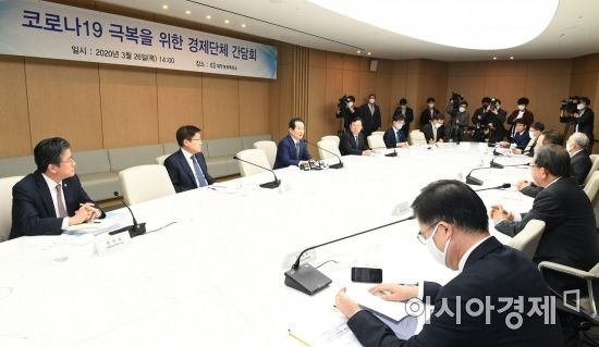 [포토]'코로나19 극복을 위한 경제단체 간담회'