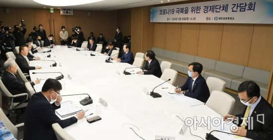 [포토]한자리에 모인 경제단체 관계자들