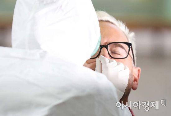 [포토]공항에서 코로나19 진단 검사