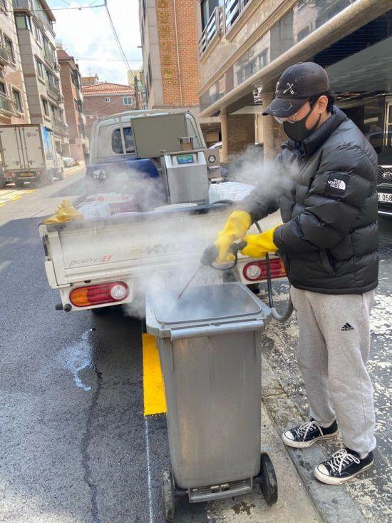 송파구, 음식물쓰레기 종량기 세척