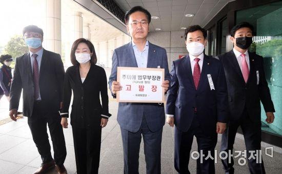 [포토] 미래통합당, 추미애 장관 직권남용 혐의 고발