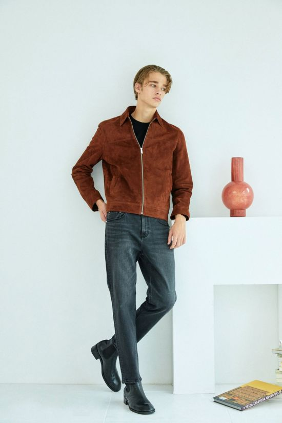 LF 마에스트로, 해링턴 재킷 스타일 가죽 블루종 출시