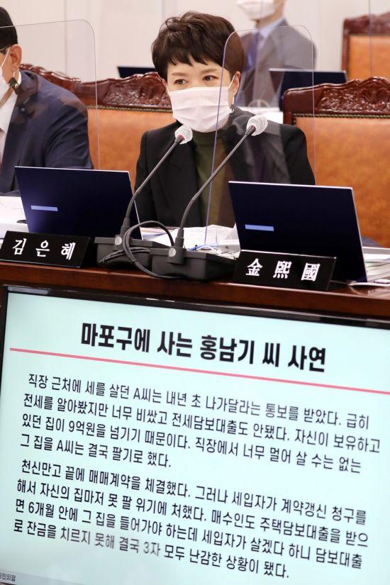 """[2020국감] 김현미 """"홍남기, 일단 새 집 알아봐야"""""""