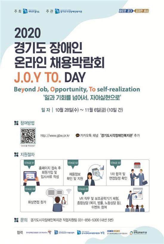 경기도, 장애인 온라인채용박람회 개최