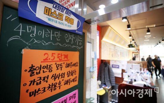 숨통 트인 카페·실망 가득 식당과 주점…거리 곳곳 극명한 자영업자 아우성