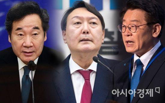 [아경 여론조사]윤석열 46.8% vs 이낙연 39%, 이재명과 박빙