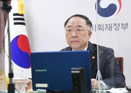 """홍남기, G20회의서 """"코로나위기 극복까지 확장정책 지속"""""""