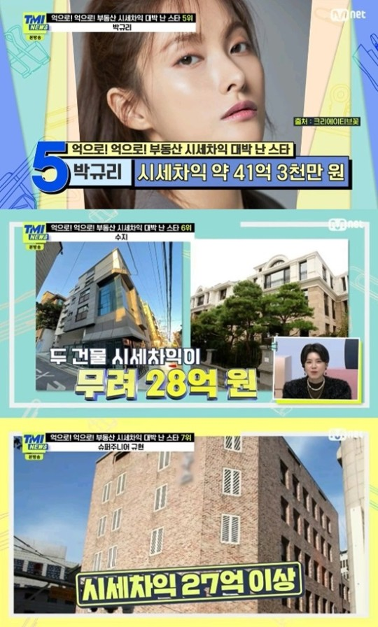 비 297억 시세차익·집만 4채 박규리까지…스타들 부동산 수익 '대박'[TMI NEWS]