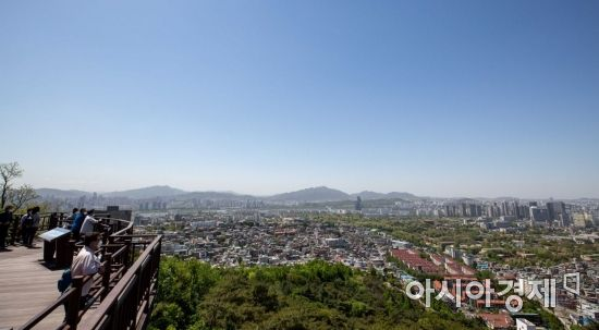 [포토]파란하늘 펼쳐진 서울 도심