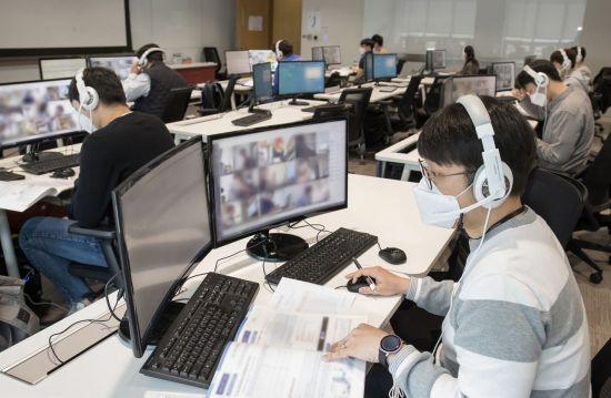 """삼성 공채 온라인 GSAT, 돌발 상황 없이 마쳐…응시생들 """"대체로 평이""""(상보)"""