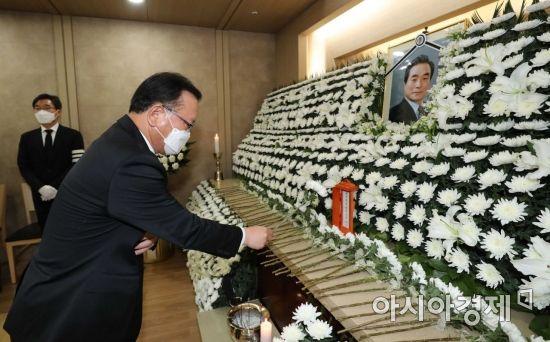 김부겸·반기문 조문…故이한동 총리 마지막길 각계 추모 행렬