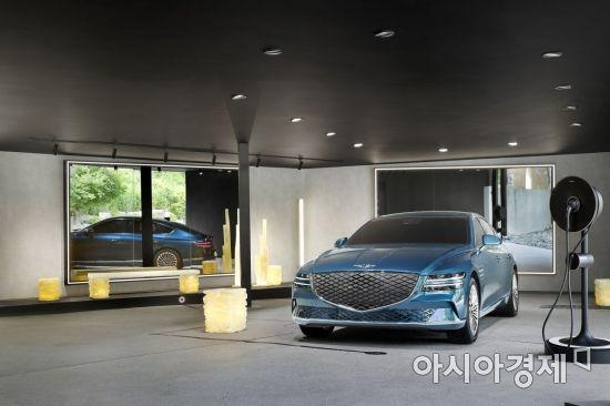 """제네시스 G80 전기차, 국내 첫 선 """"럭셔리 전기차 시대 연다"""""""