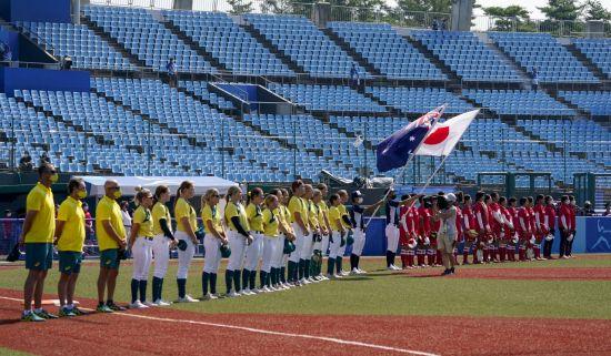 일본, 소프트볼 개막전 콜드게임 승리