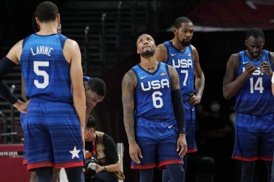 미국 남자농구 올림픽 26연승 실패…프랑스에 덜미