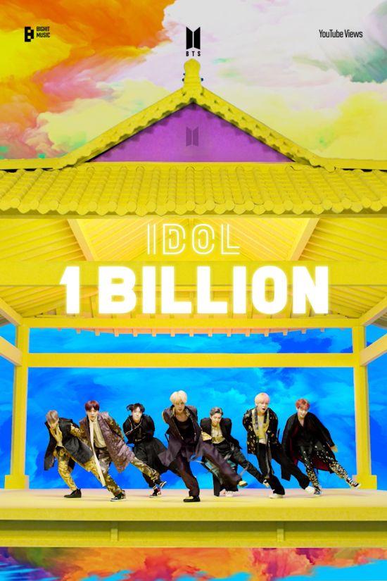 방탄소년단, 'IDOL' 뮤직비디오 10억뷰 돌파…통산 6번째