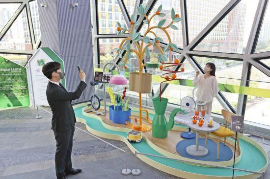 갤러리아百, 재생에너지 작품으로…'길종상가' 친환경 전시 팝업 진행