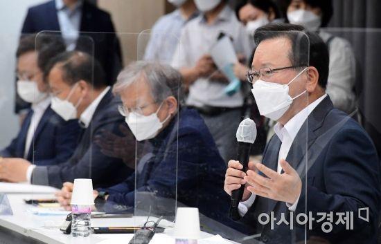 [포토] 소상공인·자영업자 간담회 나선 김부겸 총리
