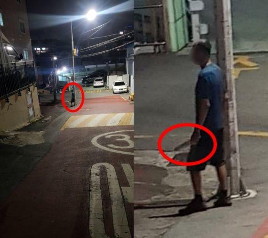 """""""사진 확대해보니 소름이 쫙""""… 산책 중 마주친 男, 한 손에 칼 들어"""